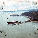 Among the ships which fell victim to the typhoon were refrigerator storeship, Regulus, aground on Kau Yi Chau