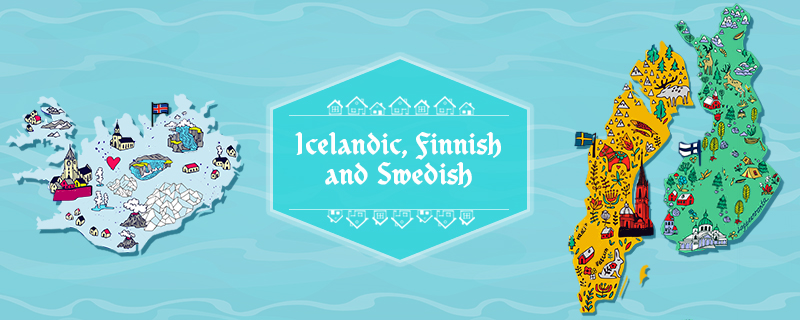 Icelandic, Finnish and Swedish